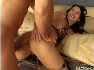 hardcore big dick Victoria Sin bends over and takes a monster cock up her tiny asshole