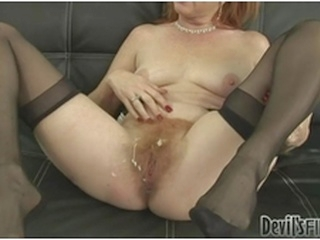 hardcore big dick Dirty milf gets her hairy pussy covered in a blast of hot jizz