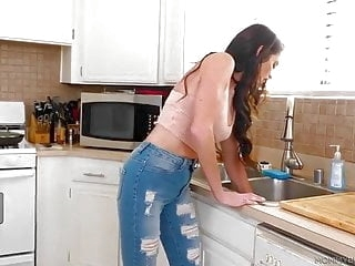 hairy blowjob Silvia Saige ask son for help