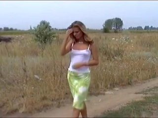 blonde amateur Perfect Body Blond Katalin Bent Over The Hood For Deep Sex