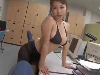 solo girl korean ALONE IN THE OFFICE (by tm)