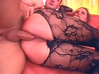 wife german German Wife large scones in hawt Catsuit laid
