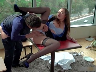 big ass babe Dani Daniels takes it in a restaurant