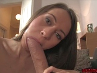 big dick brunette Young babe Mika ass fucked by monster cock and facial