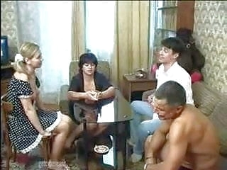 russian group sex Russian Old And Young Couples Swinger Game