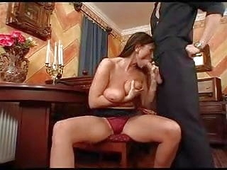 old & mature Mature With Big Tits Fucked By Servant Boy