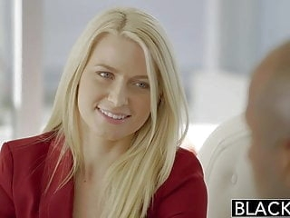 blonde anal BLACKED Business Blonde Anikka Albrite Ass Fucked By a BBC