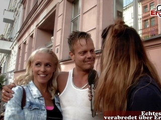 blonde amateur german agent pick up real couple on street for first time swinger club