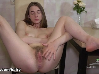hairy big tits Marceline Moore in Masturbation Movie - ATKHairy